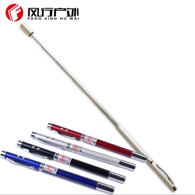 Linterna bolígrafo LED, truncheon bastón telescópico, multifunción, puntero láser, látigo, PUNTERO LÁSER ROJO, palo de maestro para la enseñanza
