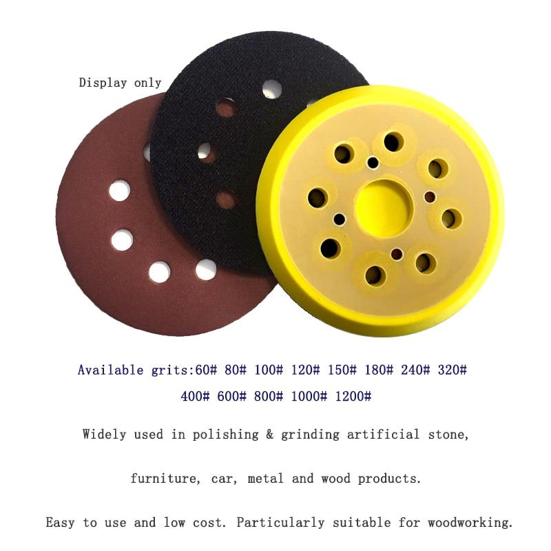 10 piezas 5 pulgadas 125 mm 8 agujeros 60-1200 granos de forma - Herramientas abrasivas - foto 5