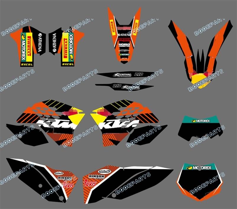 RB Logo (Brush Bull ) Motorcycle Bike Dirt Bike XC SX EXC Decal Sticker Kit Grahics For KTM SX XC XC-W EXC 2008 2009 2010 2011