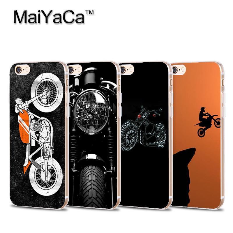 Мягкий прозрачный чехол для мобильного телефона MaiYaCa Cafe Racer Reverse для iPhone X XS MAX XR 8 8PLUS 5S 6s 11pro max