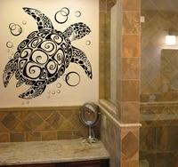 removable sea turtle wall sticker home decoration bathroom glass vinilos adesivo vinyl turtle wallpaper washroom decor ny 217