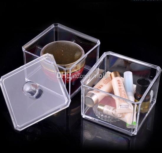 ¡USA en stock! Caja de exhibición de cajones para maquillaje organizador de cosméticos caja de acrílico transparente para gabinete