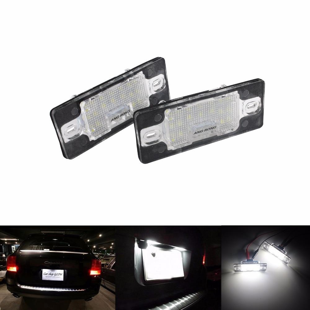 ANGRONG 2x LED luz de placa de matrícula para Porsche Cayenne 955 de 957 para VW Passat B5.5 5D gira Touareg 7L Tiguan (CA204)