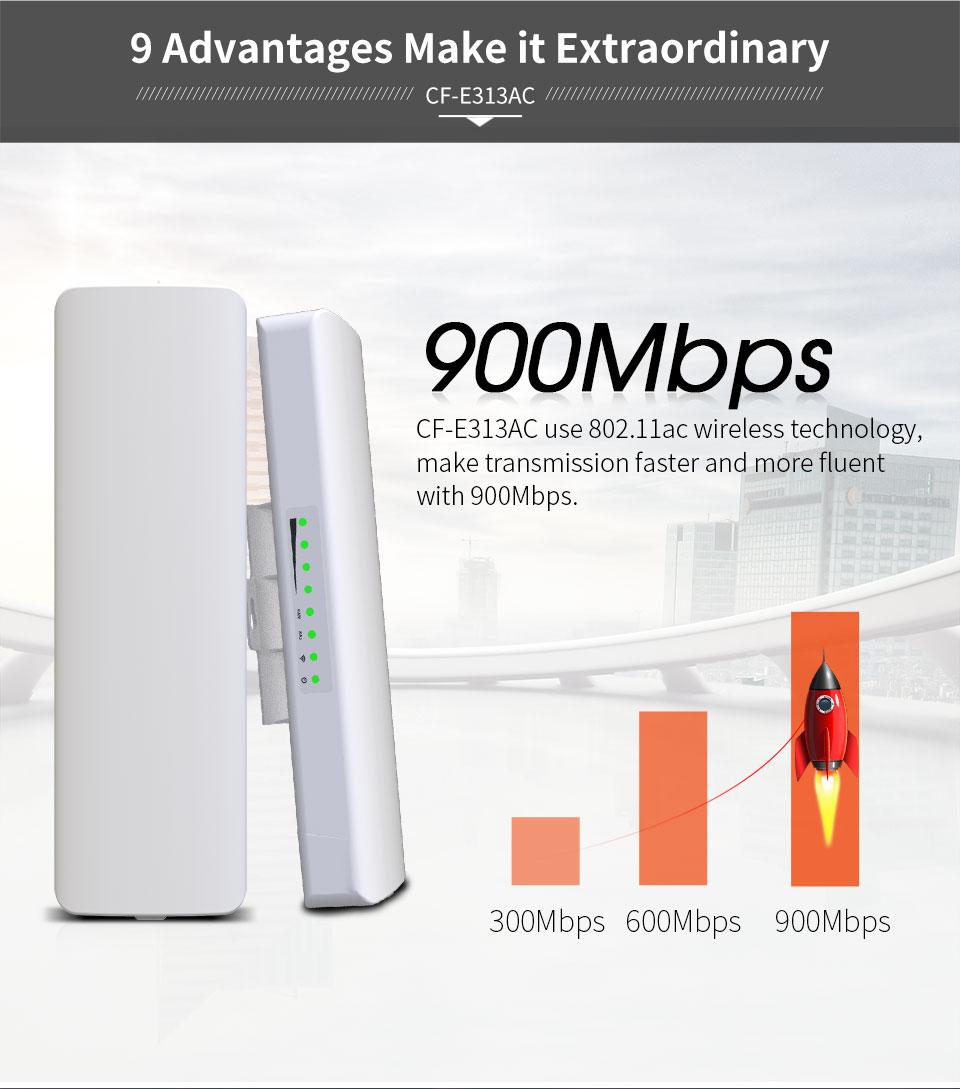 2 шт. 900 Мбит/с 5,8 ГГц открытый беспроводной AP мост 5 км WIFI CPE точка доступа 12dBi Wi-Fi антенна Nanostation CPE COMFAST CF-E313AC