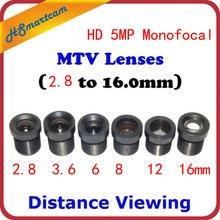 HD 1080P 5.0MP Monofocale CCTV Monofocal Montaggio Su Scheda M12/MTV Lens Set per la Distanza (set di 6)