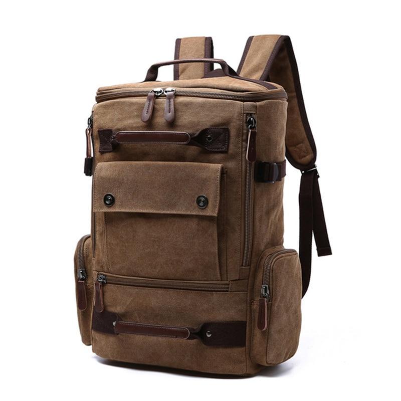 الرجال على ظهره حقيبة من القماش حقيبة مدرسية حقائب السفر للرجال حقيبة ظهر بسعة كبيرة حقيبة كمبيوتر محمول على ظهره عالية الجودة