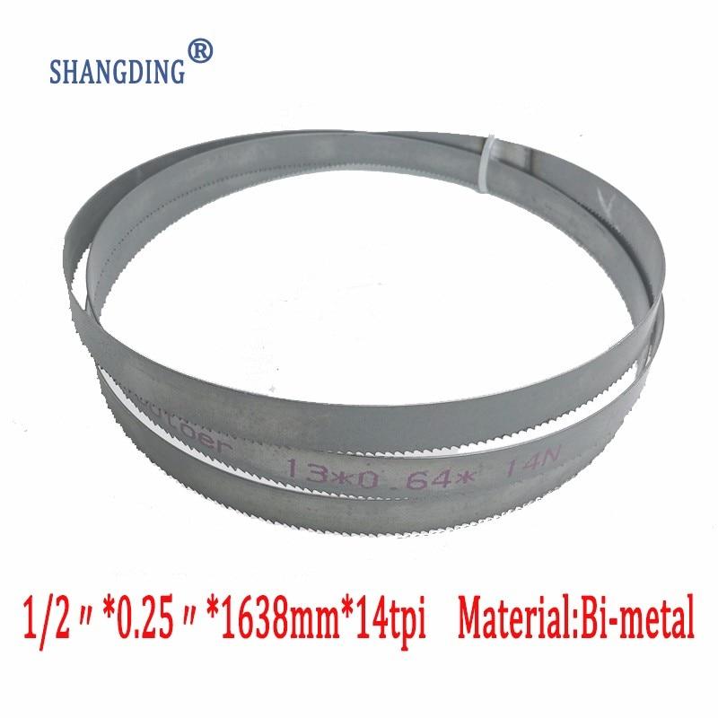 "Najwyższa jakość obróbka metali 64.5 ""x 1/2"" x 0.25 ""x 14tpi Bimetal metalowa piła taśmowa M42 1638mm x 13mm"