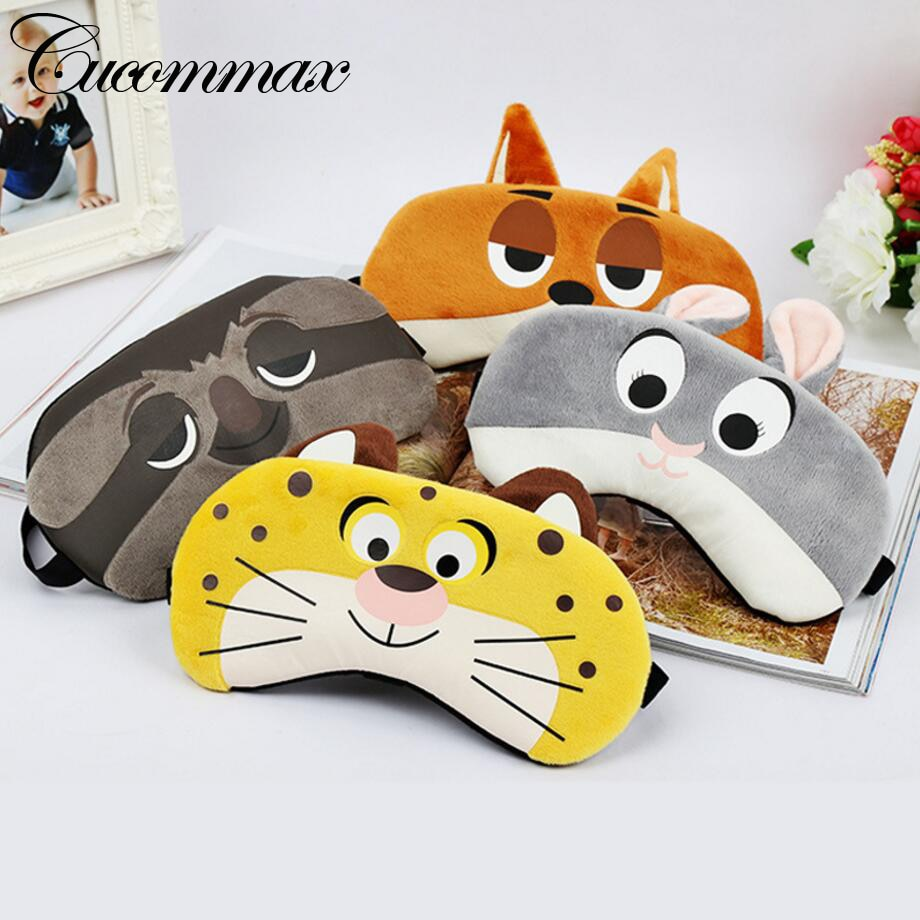 Cucommax 1pc Cartoon Relaxing Ice or Hot Compress Eyeshade Sleeping Mask Black Mask Bandage on Eyes for Sleeping-MSK33