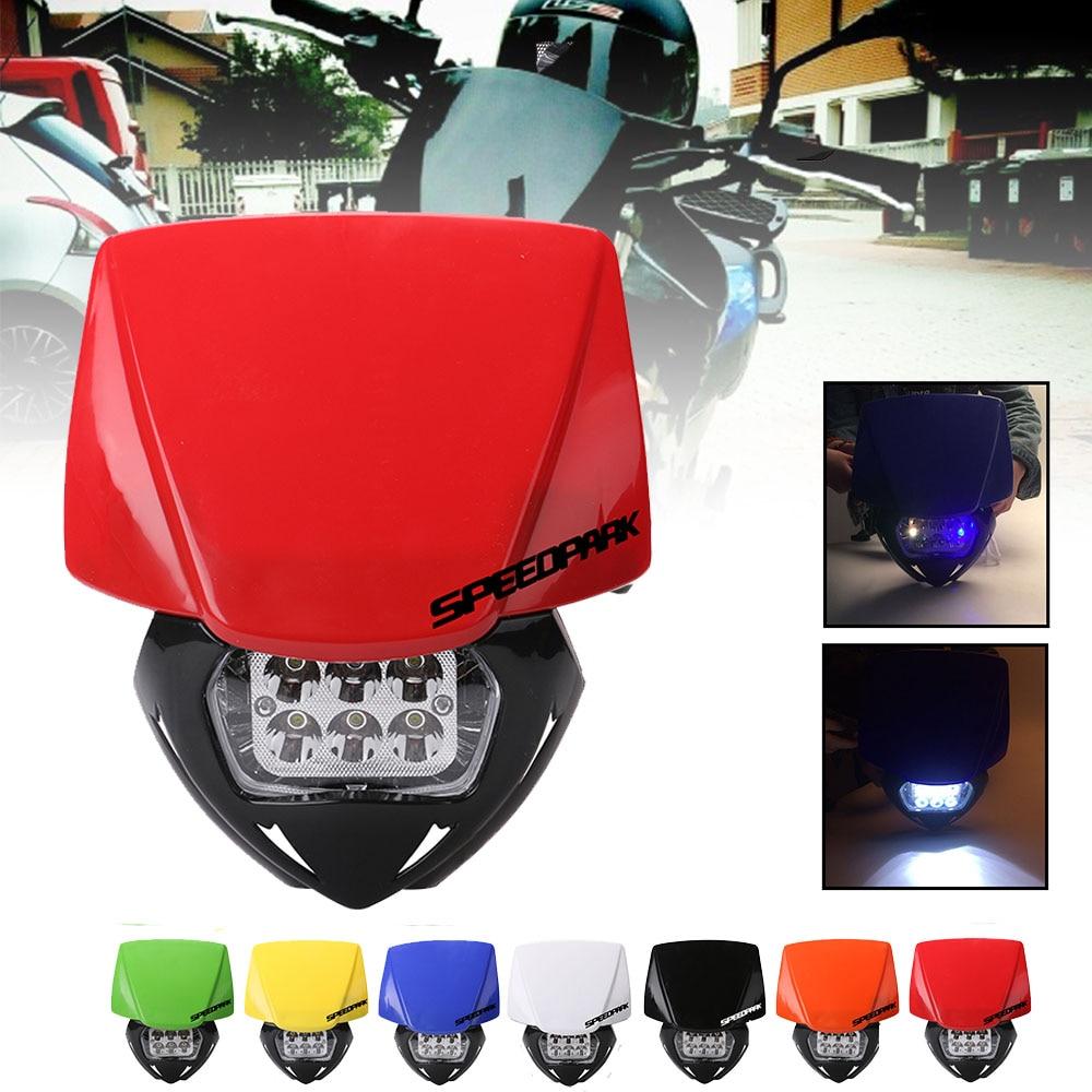 SPEEDPARK Universal Motorcycle Dirt Bike LED moto  Headlight Headlamp For KTM SX F EXC XCF SMR MX Enduro Supermoto 2014-2016