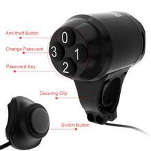 42.2*60.5mm Black Plastic Durable 2 in 1 Waterproof Loud Cycling Road / MTB Bicycle Password  Electric Horn Alarm Bell