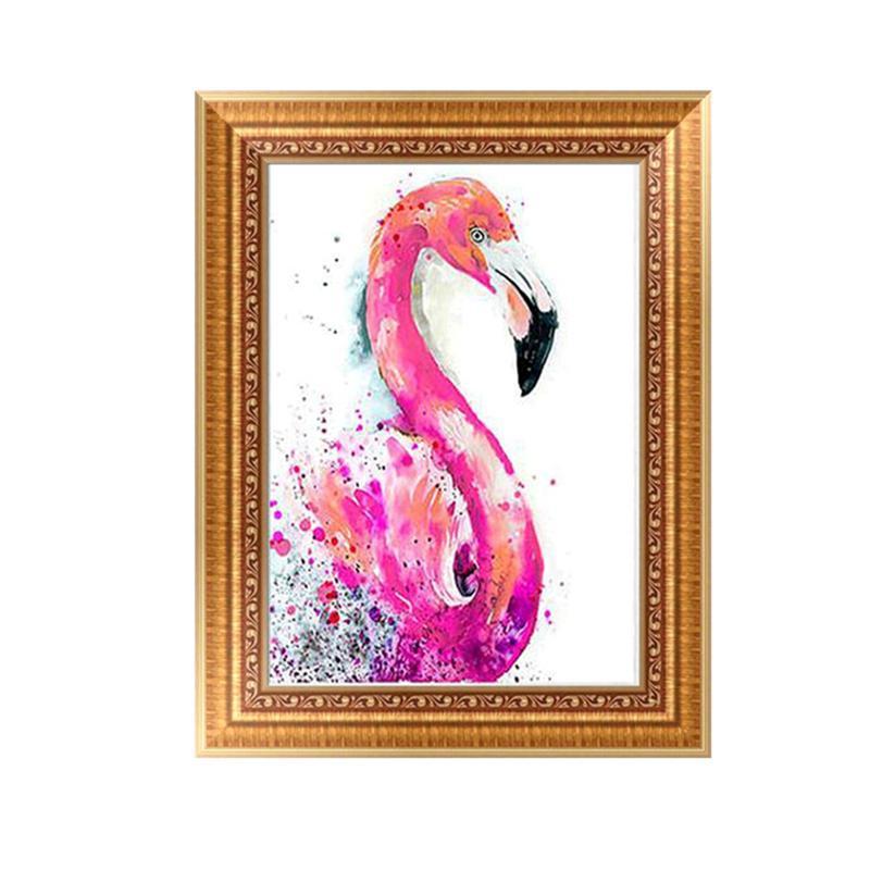Handmade DIY Diamond Embroidery Painting Wall Decoration Needlepoints Counted Cross Stitch Kits (Flamingo)