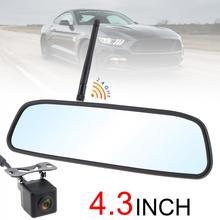 4,3 pulgadas 12V HD coche inalámbrico Monitor de espejo retrovisor estacionamiento automático sistema con cámara de visión trasera para marcha atrás construido-en antena