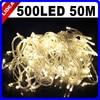 50 M 500 LED 9 צבעי חתונה בגן חג המולד לשנה חדשה Navidad זר קישוט חיצוני אור LED מחרוזת חג מולד פיות HK C-35