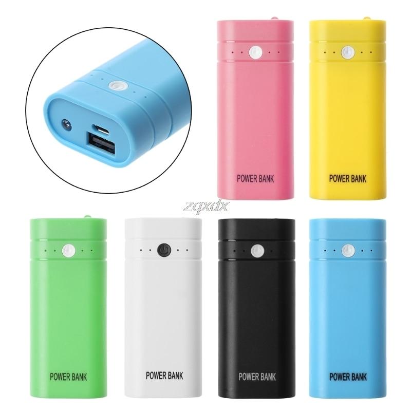 USB güç bankası 2x18650 pil şarj cihazı kutusu Shell kılıf DIY kiti için telefon toptan ve Dropship