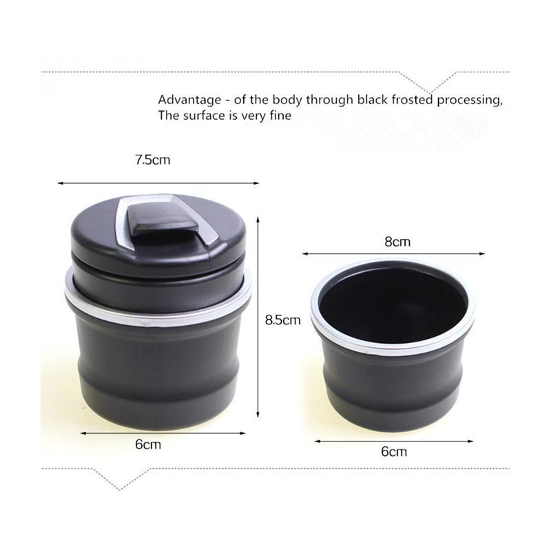 Vehicle LED ashtray, vehicle hygiene products for  Mitsubishi asx lancer x 10 9 outlander xl pajero 4 sport  Car-Accessories