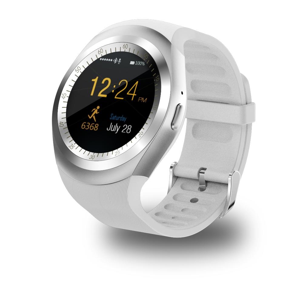 Умные часы Y1, умные часы с Bluetooth, 2G, GSM, SIM, синхронизация с приложениями, Mp3, для телефонов Apple iPhone, Android, PK DZ09, KW18