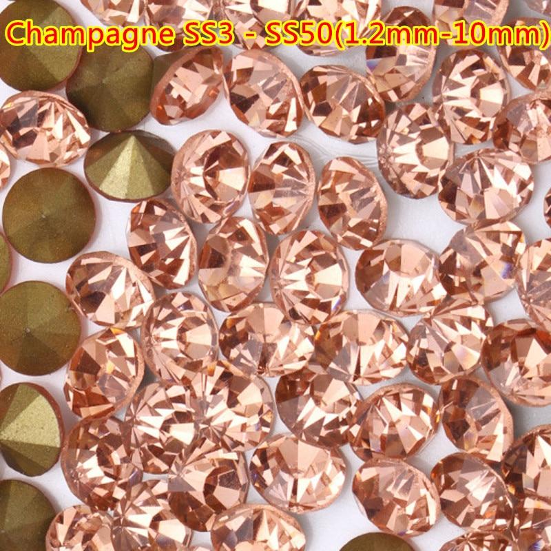 Envío Gratis 1440 piezas ss3-ss50 1,2mm-10mm punto redondo Rhinestones uñas arte Piedras...