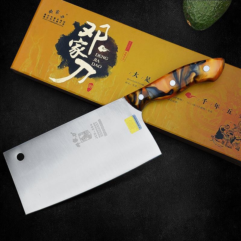 9Cr15Mov alta calidad hecha a mano forjado cuchillo de Chef profesional de cuchillos de cocina carne vegetal cuchillo estilo chino navajas Mulberry