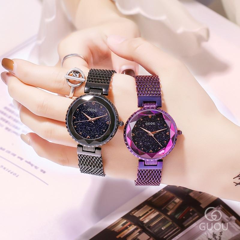 Top Brand Rose Gold Quartz Watches Women Stainless Steel Wristwatch Clock Luxury Ladies Crystal Watch Dress Watch montre femme enlarge