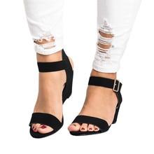 SAGACE Summer Woman Sandals Wedge ShoesBuckle Strap  Ladies Shoe Women Thick Bottom Sandals Platform Gladiator Wedge High Heel