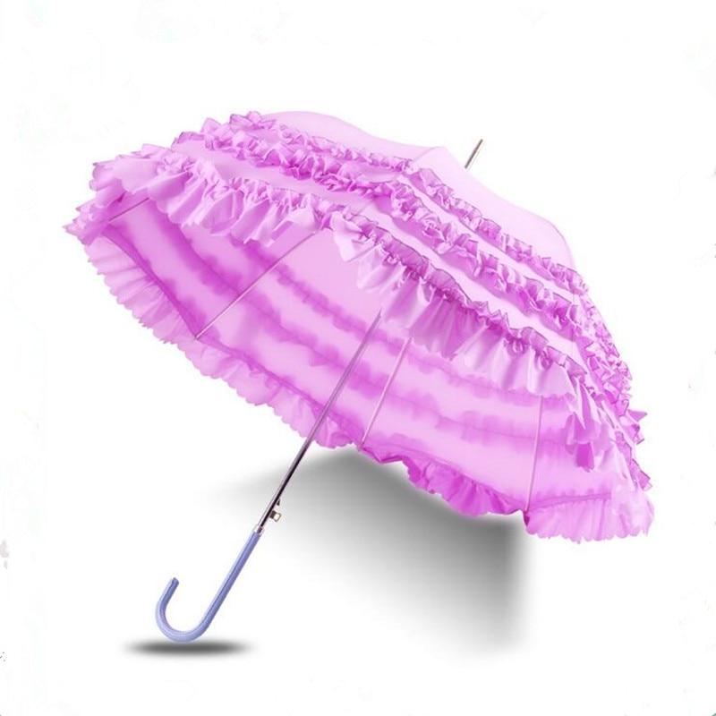 Paraguas de princesa de encaje Cosplay paraguas de marca de vinilo UV paraguas creativo de moda para mujeres