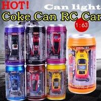 hot original 7 colors coke can rc car radio remote control car micro racing car toy 4pcs road blocks kids toys gifts