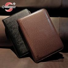 166 série business manager dossier zipper bagsnotepad créatif en cuir cahier sub personnalisé papeterie 1 pièces A4/A5/A6