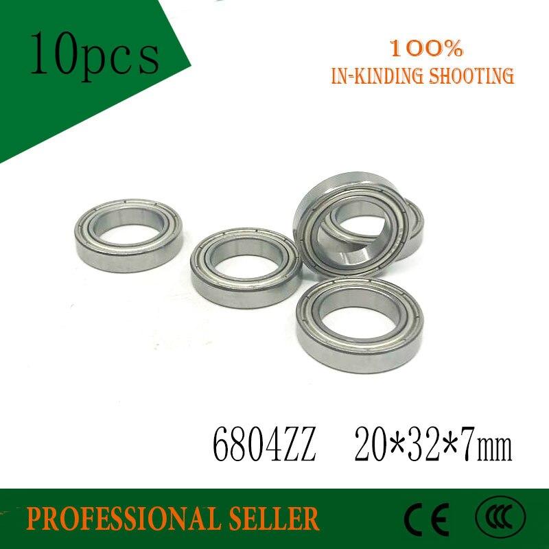 10pcs free shipping  6804ZZ 20*32*7 mm P5 thin wall deep groove ball bearing