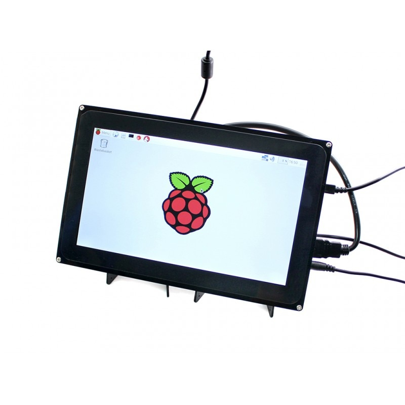 Waveshare 1024x600x10,1 pulgadas HDMI LCD (H) capacitiva de la pantalla táctil para Raspberry Pi de BB negro Windows 10 mini Multi-Uds