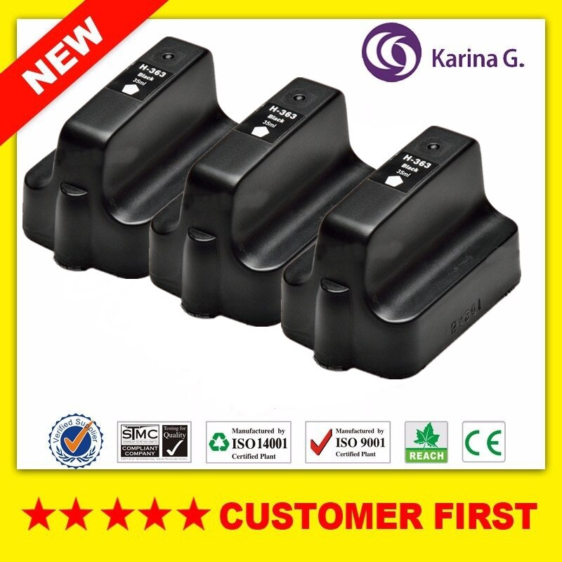 3 PCS Preto Cartuchos De Tinta Compatíveis Para hp HP363 HP 363XL 363 terno para o HP PhotoSmart C6240 C6250 C6270 C6275 C6280 C6283
