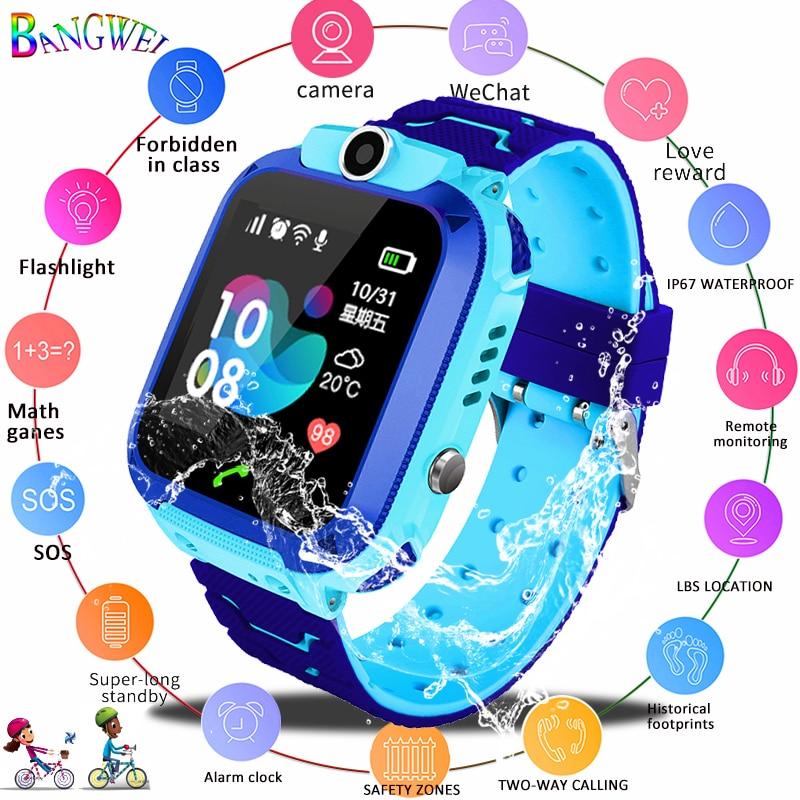 2019 nuevo reloj inteligente LBS chico SmartWatches reloj de bebé para los Niños SOS llamada ubicación localizador del buscador de rastreador Anti perdido Monitor + caja