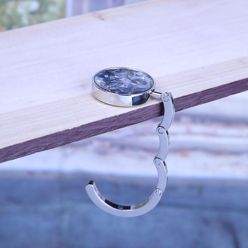 Складная сумка крючок Вешалка Портативный металлический складной держатель для сумок кошелек сумочка оболочка Сумка Вешалка-крючок для сумочки складной столик Бабочка крючок