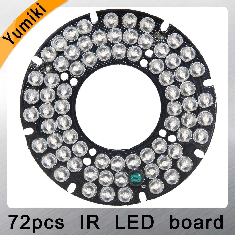 Yumiki Infrared 72pcs IR LED board for CCTV cameras night vision (diameter 76mm)