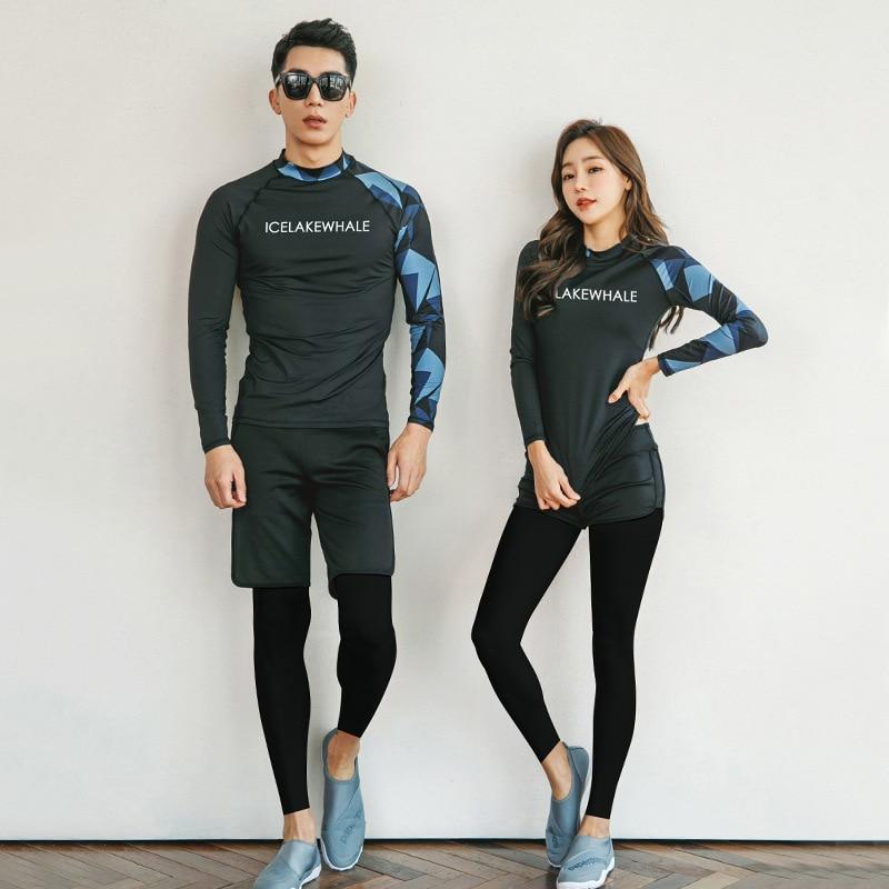 Traje de baño para mujer Kitesurf Split traje de baño de manga larga de Corea