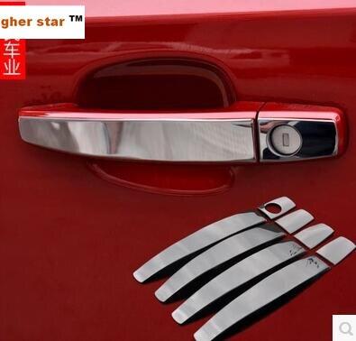 Higher star de acero inoxidable 4 Uds cubierta de manija de puerta de coche pegatina + ABS manija de puerta trasera del maletero Bol para Chevrolet Trax 2014-2018
