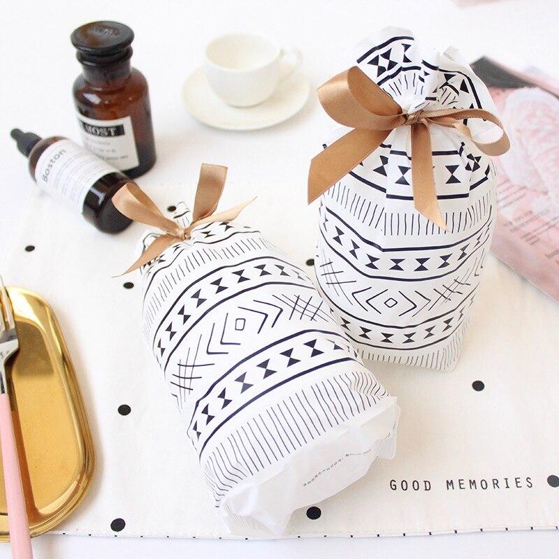 23.3*15cm 50pcs Bohemia black white design bag Cookie Snacks Chocolate party Decoration Plastic Gift Wrap Storage