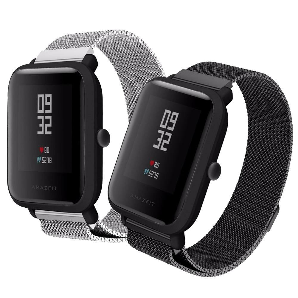 Correa Milanese Loop de Metal de 20mm para Xiaomi pulsera de correa de muñeca Huami Amazfit Bip BIT Lite Youth para correa de reloj inteligente Amazfit Bip