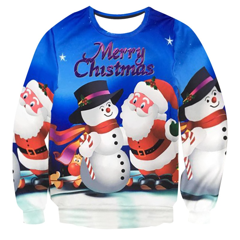 Фото - Ugly Christmas Sweater Santa Claus Cute Print Pullover 3D Sweater Jumper Outwear Women's Patterns of Reindeer Snowman Christmas fennell clare santa s 12 days of christmas