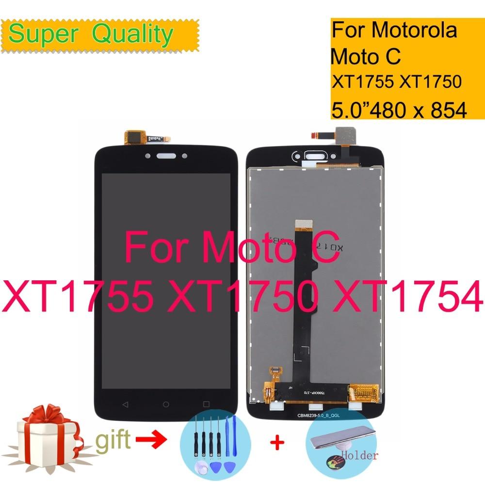 "5,0 ""para Motorola Moto C XT1755 XT1750 XT1754 LCD pantalla táctil digitalizador Sensor montaje LCD completo reemplazo"