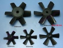 2 adet 2.56/1.97/2.17/3.5 inç 6-Blade Pervane 65mm 50mm 55mm 89mm CW Plastik Sahne Fr RC Model Kanal Uçak Kanallı Fan EDF Ünitesi