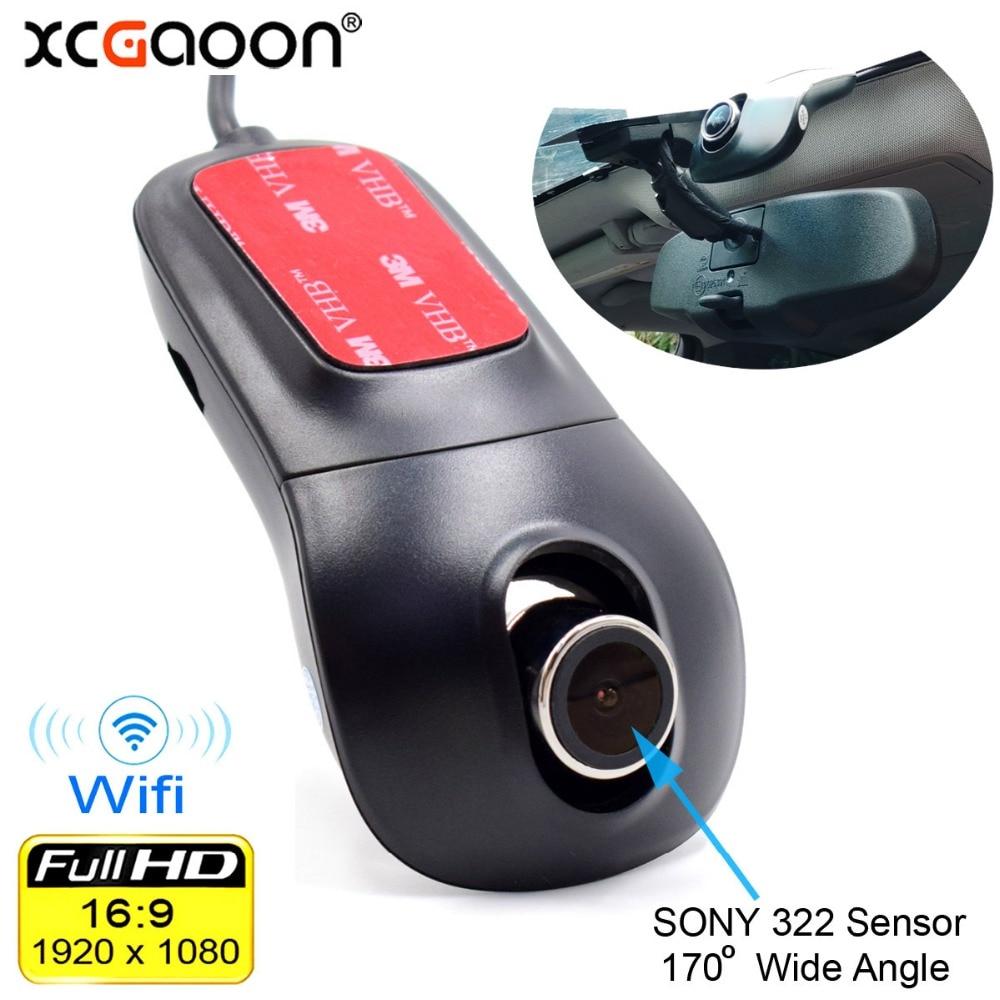 Grabadora de vídeo Digital DVR XCGaoon con Wifi para coche, videocámara Dash Cámara 1080P VERSIÓN NOCTURNA Novatek 96655 rotar 60 grados