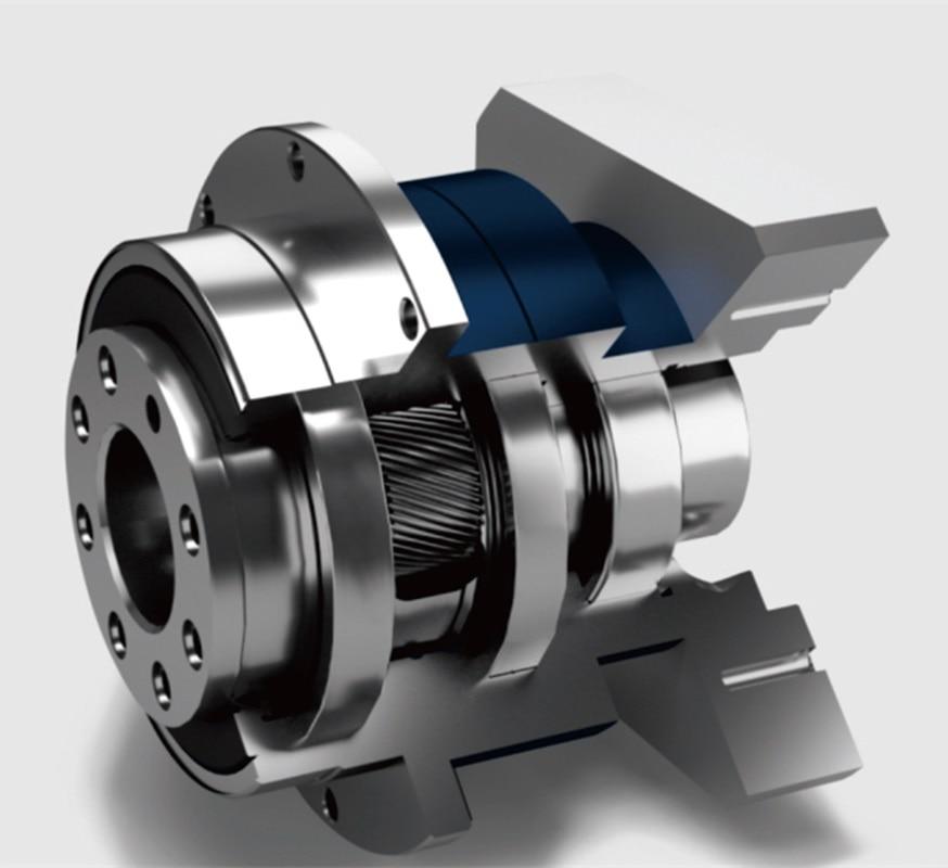 Reductor planetario de la caja de cambios de salida de brida 5 arcmin ratio 201 a 100 1 para 130mm 2kw AC servo motor eje de entrada 24mm