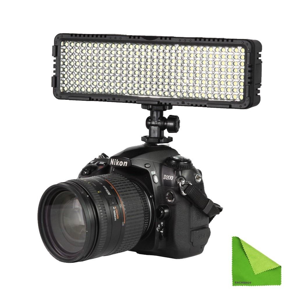 NanGuang CN-LUX2400 100V-240V 3200K-5600K LED Video Light Lamp For Canon Nikon Sony Camera DV Camcorder Photographic Lighting