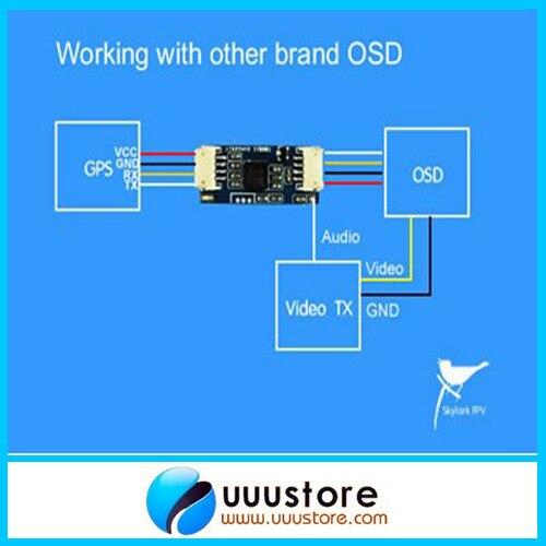 Adaptador de módulo de conversión Skylark OSD para otra marca OSD Auto Antenna Tracker III