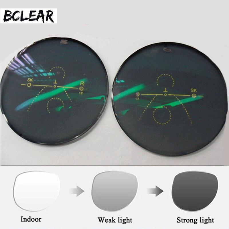 BCLEAR 1,56 Multi Brenn Vorderseite Außerhalb Progressive Chamäleon Grau Braun Photochrome Sonnenbrille Objektiv standard multifokale
