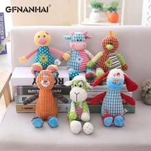1 ud. 6 estilos 30cm adorable marioneta peluche juguete kawaii Animal perro muñecos de vacas mascota morder juguete bebé dedo apaciguar juguetes de peluche