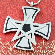 Encanto religioso Pentagrama Pingente de Cruz Colar de Jóias Em Aço Inoxidável 316L Para Mulheres Dos Homens Presentes de Natal Belas KP1724