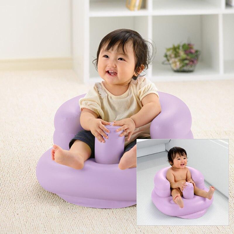 Детское надувное кресло, мягкое сиденье для душа, для дома и путешествий, для новорожденных, портативное сиденье для ванны