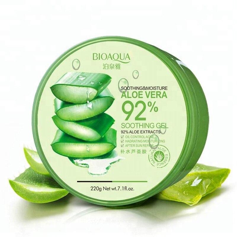 BIOAQUA 220g Nature Aloe Vera 92% Sooting Moisture Acne Treatment Face Cream Pure Aloe Vera Gel For Face Skin Care