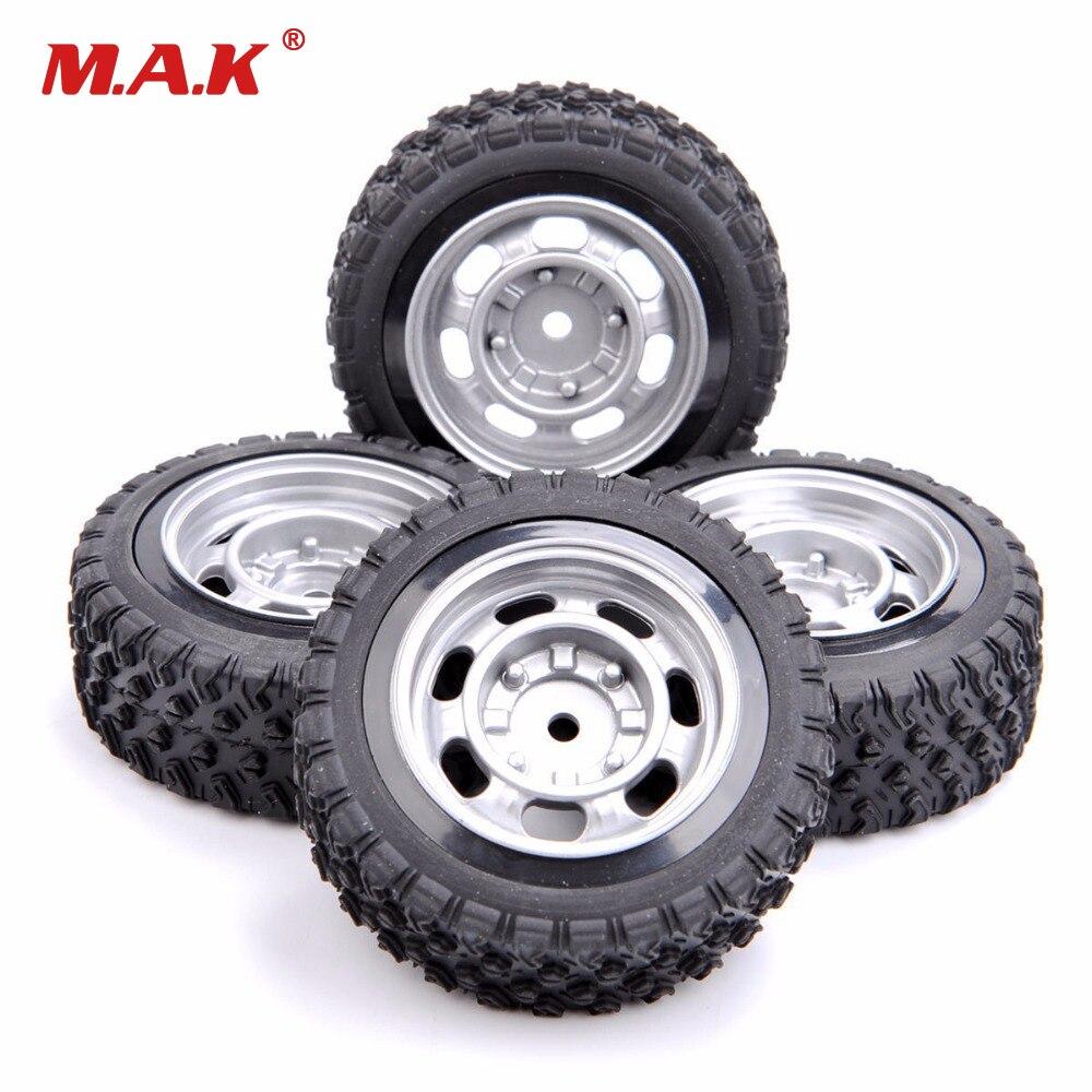 12mm hex pneus de borracha do carro de rally e roda modelo brinquedos peças acessórios apto para 1/10 rali borracha rc peças modelo de carro